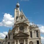 La façade de l'église Saint-Etienne-du-Mont
