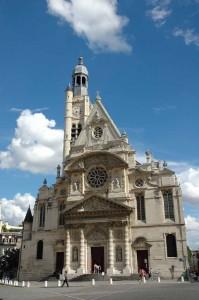 Façade of Saint-Etienne-du-Mont church