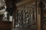 Détail d'un panneau de l'orgue