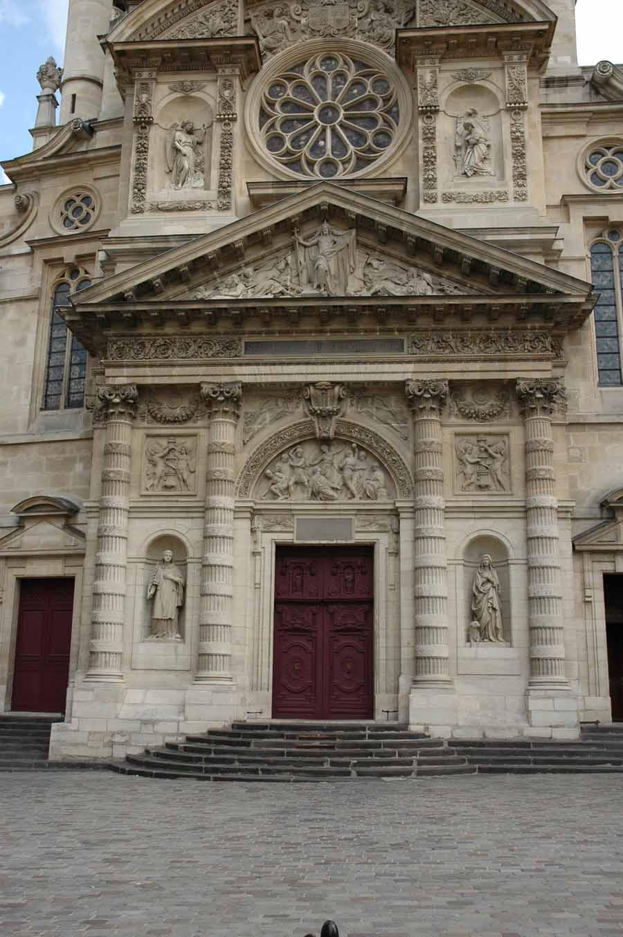 Architecture g n rale et ext rieure saint tienne du mont for Decoration du facade orleans