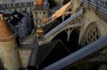 Détail des toits : les arcs-boutants